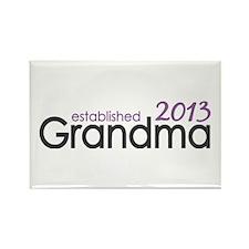 New Grandma Est 2013 Rectangle Magnet