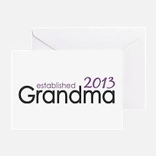 New Grandma Est 2013 Greeting Card