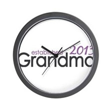 New Grandma Est 2013 Wall Clock