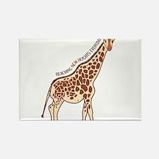 New Heights Giraffe Rectangle Magnet