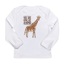Unique Giraffe Long Sleeve Infant T-Shirt