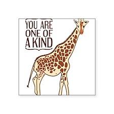 """Unique Giraffe Square Sticker 3"""" x 3"""""""