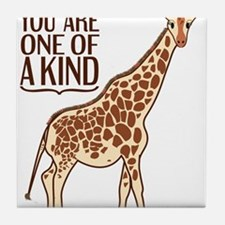 Unique Giraffe Tile Coaster