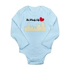 Windy City Chicago Long Sleeve Infant Bodysuit