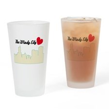 Windy City Chicago Drinking Glass