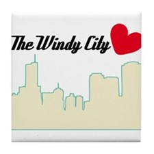 Windy City Chicago Tile Coaster