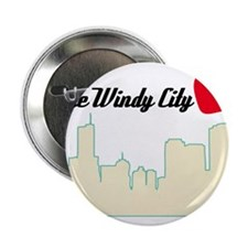 """Windy City Chicago 2.25"""" Button"""