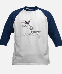 His Eye Is On The Sparrow Kids Baseball Jersey