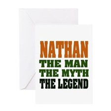 Nathan The Legend Greeting Cards