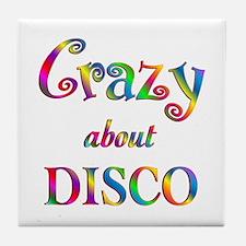 Crazy About Disco Tile Coaster