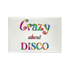Crazy About Disco Rectangle Magnet