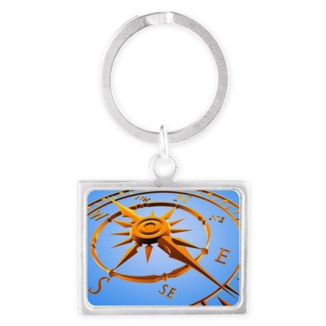 Compass rose - Landscape Keychain