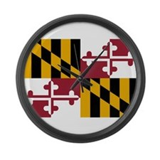 Flag of Maryland Large Wall Clock