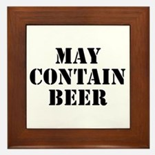 May Contain Beer Framed Tile