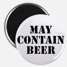 """May Contain Beer 2.25"""" Magnet (100 pack)"""