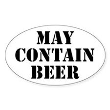 May Contain Beer Decal