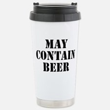 May Contain Beer Stainless Steel Travel Mug