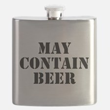 May Contain Beer Flask
