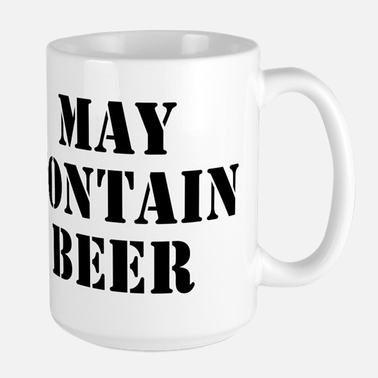 May Contain Beer Large Mug