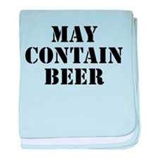 May Contain Beer baby blanket
