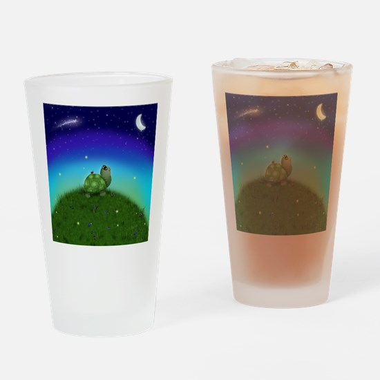 Turtle Moon and Stars Drinking Glass