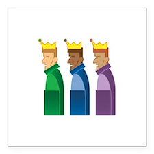 "Los Reyes Magos Square Car Magnet 3"" x 3"""