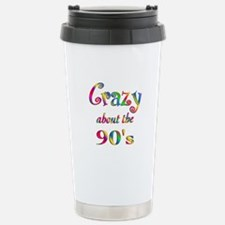 Crazy About The 90s Stainless Steel Travel Mug
