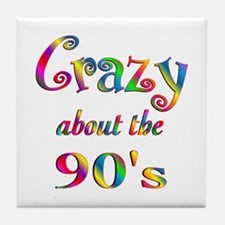 Crazy About The 90s Tile Coaster