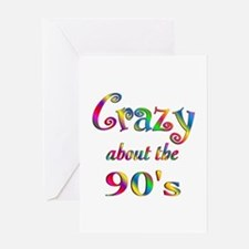 Crazy About The 90s Greeting Card