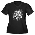 Join Fight Carcinoid Cancer Women's Plus Size V-Ne
