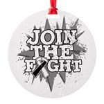 Join Fight Carcinoid Cancer Round Ornament