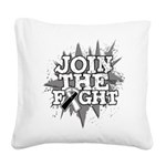 Join Fight Carcinoid Cancer Square Canvas Pillow