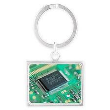 Microprocessor chip - Landscape Keychain