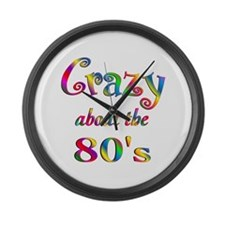 Crazy About The 80s Large Wall Clock