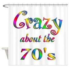 Crazy About The 70s Shower Curtain