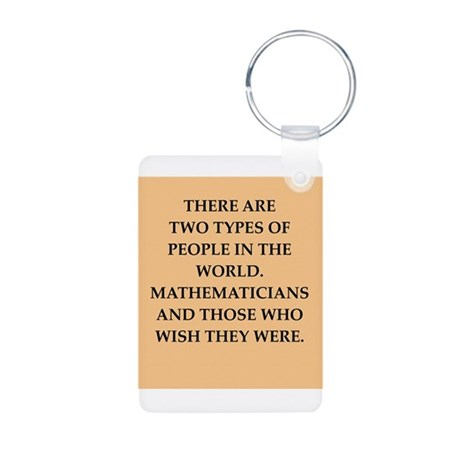 math Aluminum Photo Keychain