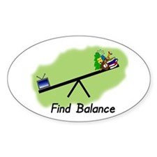 Find Balance Oval Decal