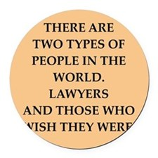 lawyer Round Car Magnet