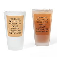 lawyer Drinking Glass