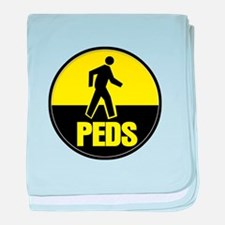 The peds or pedestrians baby blanket