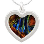 Angel Fish Silver Heart Necklace