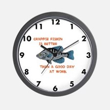 Crappie clock Wall Clock