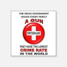 """GUN FACTS Square Sticker 3"""" x 3"""""""