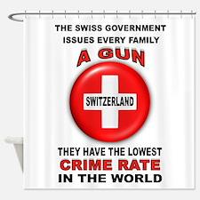 GUN FACTS Shower Curtain