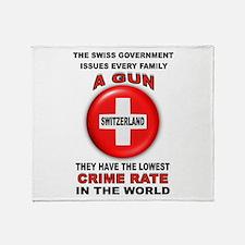 GUN FACTS Throw Blanket