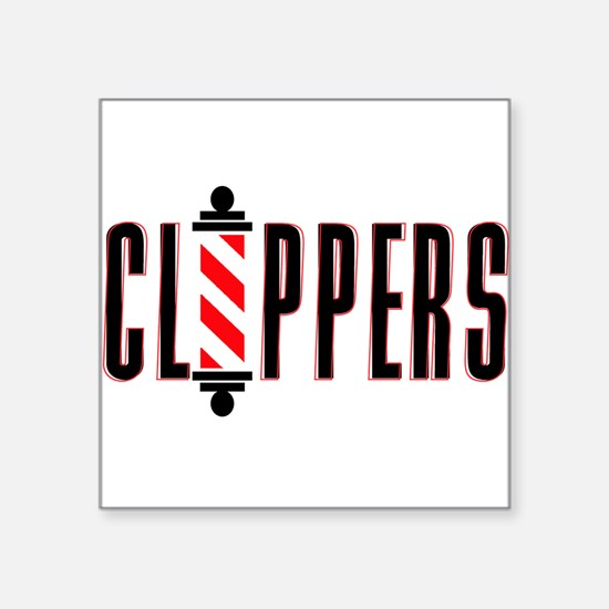 """The Clippers Square Sticker 3"""" x 3"""""""