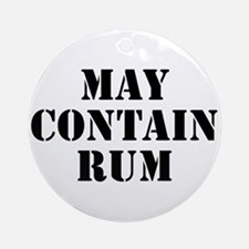May Contain Rum Ornament (Round)