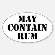 May Contain Rum Decal