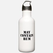 May Contain Rum Water Bottle