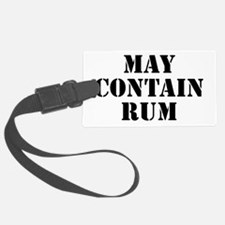 May Contain Rum Luggage Tag